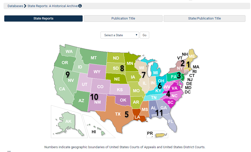 Map View in State Reports: A Historical Archive Includes Court ...