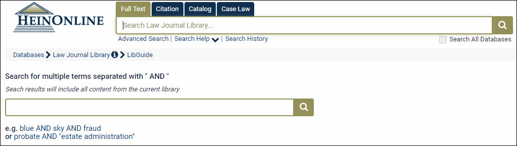 Law Journal Library Quick Reference Guide Heinonline