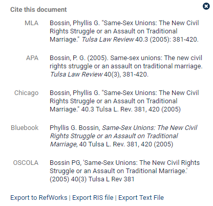 Citations in heinonline heinonline knowledge base this tool provides the documents citation in multiple citation formats including american psychological association apa chicago bluebook ccuart Gallery