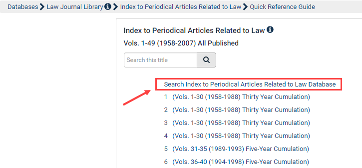 c929eb8e44a3 How do I search the Index to Periodical Articles Related to Law Database