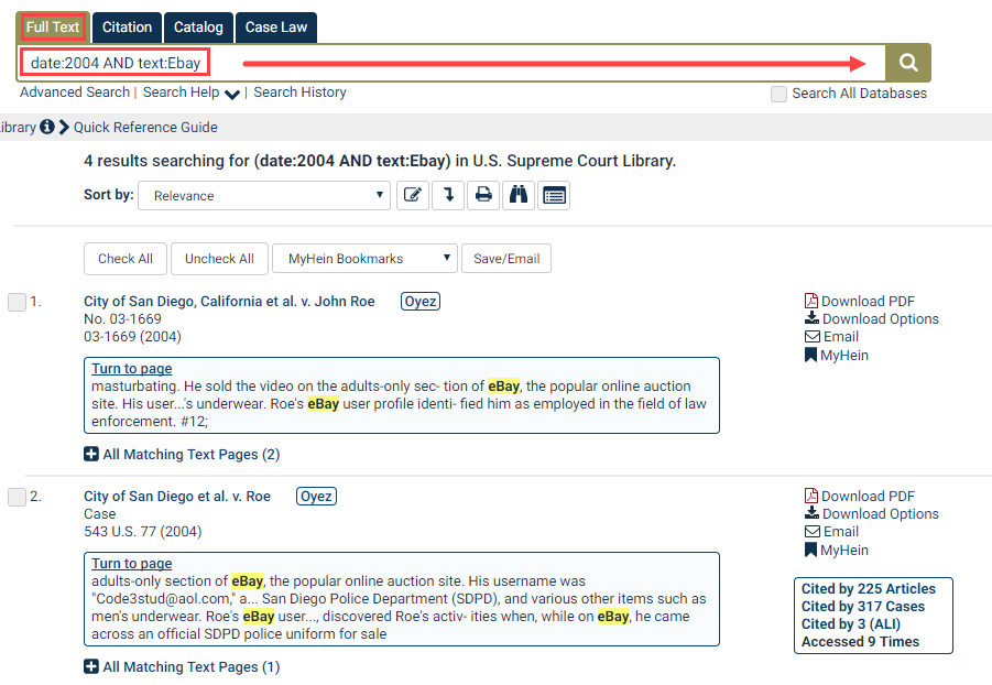 Search by Volume Date in the U S  Supreme Court Library | HeinOnline